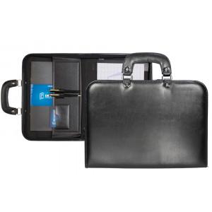 Maleta Executiva p/ Notebook com Alça de Mão em Couro Sintético 38x27x3cm