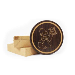 Porta Copos de Madeira Personalizado