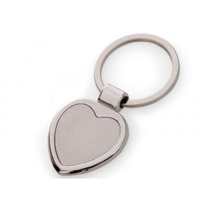 Chaveiro em Metal com Formato de Coração