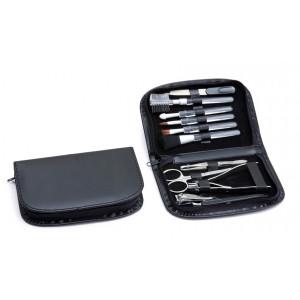 Kit Manicure Completo com Estojo em Material Sintético