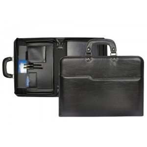 Maleta Executiva Notebook em Couro Sintético 30x42x7cm