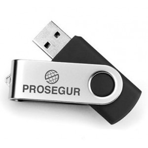 Pen Drive de 8GB com Base Giratória Personalizada
