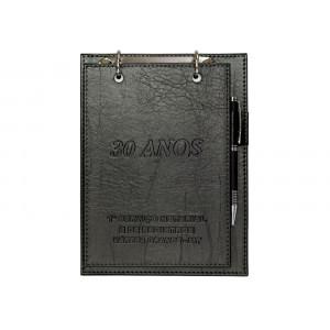 Porta Bloco de Mesa Luxo em Couro Sintético 23,5x17,5cm